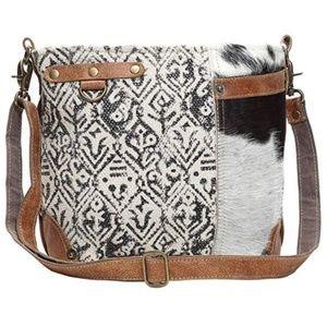 Myra Bag Hairon and Cotton Rug Shoulder Bag